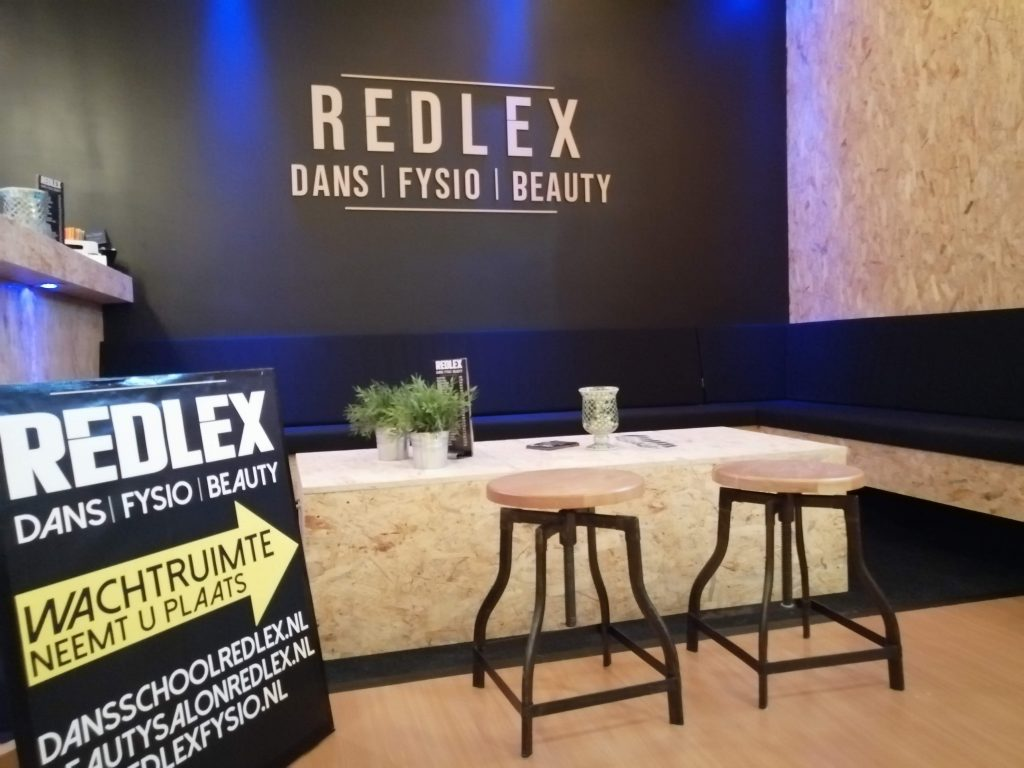 Wachtruimte bij Redlex Fysio te Amsterdam Noord