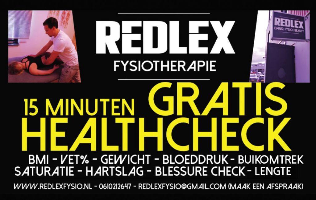 Gratis healthcheck bij Redlex Fysio in Amsterdam Noord.