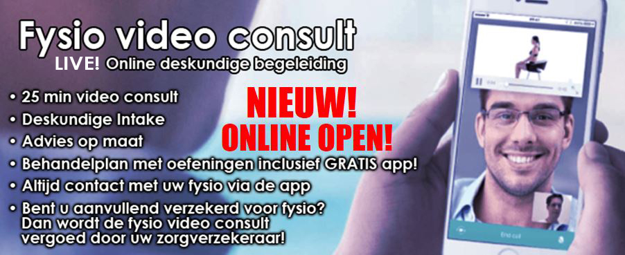 Live Fysio Video Consult in Amsterdam Noord bij Redlex Fysio